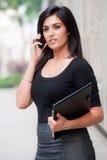 Mulher de negócios fora foto de stock
