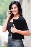 Mulher de negócios fora foto de stock royalty free