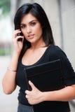 Mulher de negócios fora imagens de stock royalty free