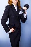 Mulher de negócios forte Imagem de Stock Royalty Free