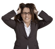 Mulher de negócios frustrante Fotos de Stock Royalty Free