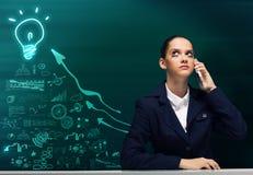 Mulher de negócios incomodada Fotos de Stock Royalty Free