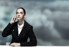 Mulher de negócios incomodada Imagem de Stock Royalty Free