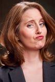 Mulher de negócios Indecisive fotografia de stock royalty free