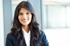 Mulher de negócios indiana bonita foto de stock