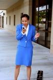 Mulher de negócios irritada foto de stock