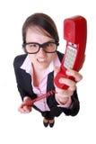 Mulher de negócios irritada Imagens de Stock Royalty Free