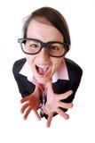Mulher de negócios irritada Imagem de Stock Royalty Free
