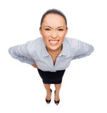 Mulher de negócios irritada fotografia de stock