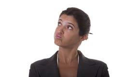 Mulher de negócios irritada fotos de stock