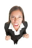 Mulher de negócios irritada isolada imagem de stock royalty free