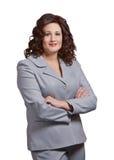 mulher de negócios isolada Fotos de Stock