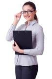 Mulher de negócios isolada Imagem de Stock Royalty Free