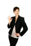 Mulher de negócios japonesa '' APROVADA '' Fotografia de Stock Royalty Free