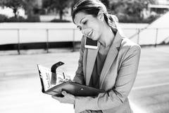 Mulher de negócios Leadership Occupation Job City Concept fotos de stock