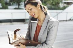 Mulher de negócios Leadership Occupation Job City Concept fotos de stock royalty free