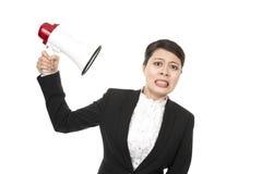 Mulher de negócios Listen Imagens de Stock