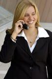 Mulher de negócios loura Fotografia de Stock