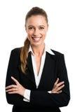 Mulher de negócios loura atrativa imagem de stock