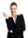 Mulher de negócios loura atrativa foto de stock