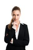 Mulher de negócios loura atrativa fotografia de stock