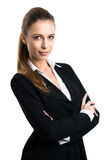 Mulher de negócios loura atrativa fotografia de stock royalty free