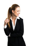 Mulher de negócios loura atrativa imagens de stock royalty free
