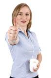 Mulher de negócios loura bonita Fotografia de Stock
