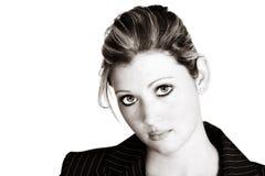 Mulher de negócios loura do Sepia foto de stock royalty free