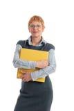 Mulher de negócios madura atrativa Fotos de Stock