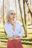 Mulher de negócios modelo nova fêmea fora, retrato Fotografia de Stock