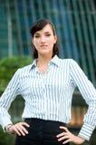 Mulher de negócios na cidade imagem de stock royalty free