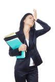 Mulher de negócios na crise foto de stock royalty free