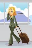 Mulher de negócios no aeroporto Foto de Stock