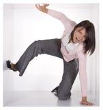 Mulher de negócios no cubo Imagens de Stock Royalty Free
