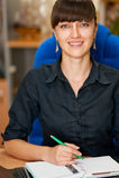 Mulher de negócios no escritório Imagens de Stock Royalty Free