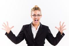 Mulher de negócios no esforço imagens de stock royalty free