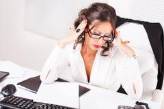 Mulher de negócios no forçado imagens de stock royalty free