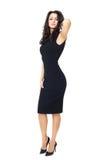Mulher de negócios no fundo branco foto de stock royalty free