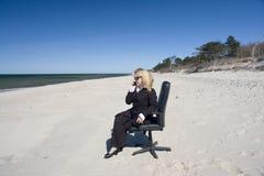 Mulher de negócios no seclusion fotos de stock royalty free