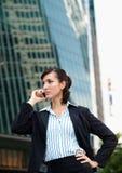 Mulher de negócios no telefone foto de stock