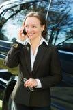 Mulher de negócios no telefone. Foto de Stock Royalty Free