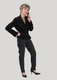Mulher de negócios no telefone foto de stock royalty free