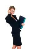 Mulher de negócios no telefone imagens de stock royalty free