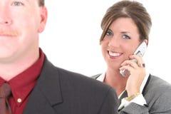 Mulher de negócios no telemóvel Imagens de Stock Royalty Free