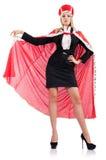 Mulher de negócios no terno real Fotos de Stock Royalty Free
