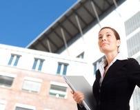 Mulher de negócios nova ambiciosa Fotos de Stock