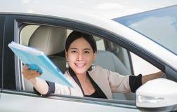 Mulher de negócios nova asiática Imagem de Stock Royalty Free