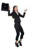 Mulher de negócios nova assustado imagens de stock royalty free