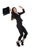 Mulher de negócios nova assustado imagens de stock